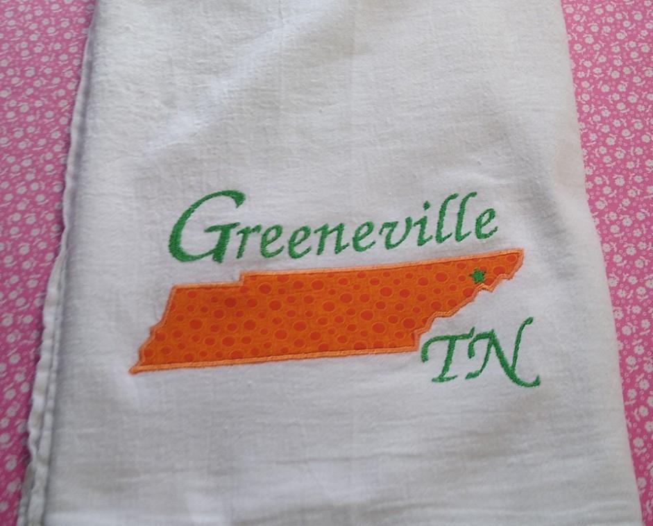 Towel – Greeneville TN Applique